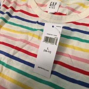 GAP Dresses - NWT Gap Kids striped dress large 10/11
